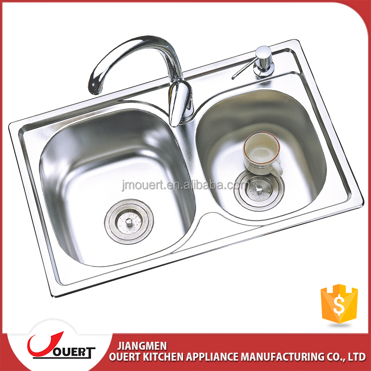 China Best Kitchen Sink Brand Ss 304 Double Bowl Kitchen Stainless