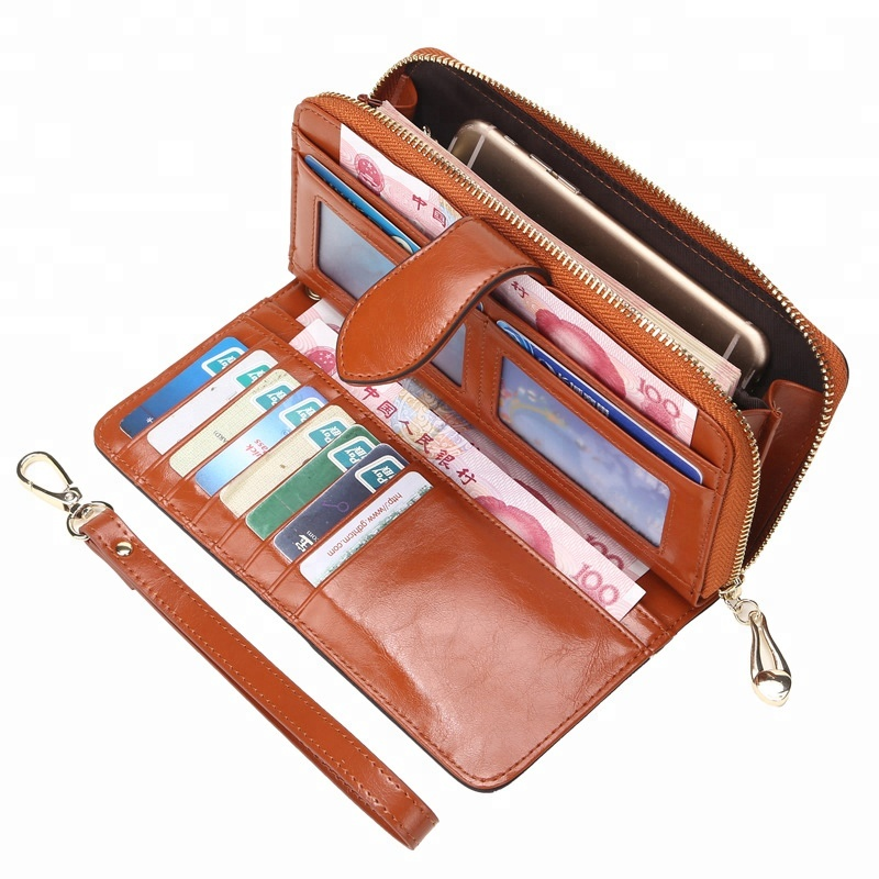 Multi-functional High Capacity PU Leather New Long Clutch Travel Card Holder Organizer Wristlet <strong>Wallet</strong>