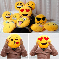 2016 China stuffed smiley face soft toys emoji pillows good quality new products manufacture/emoji pillow