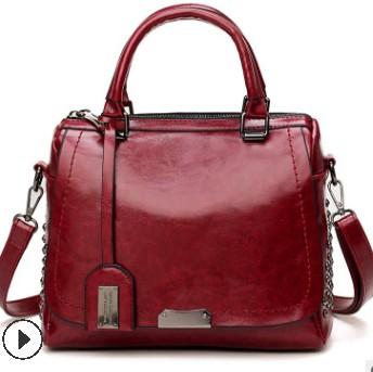 Женская сумка из натуральной кожи, брендовая модная женская сумка, женская сумка, винтажная сумка-мессенджер, сумка на плечо с буквенным при...(Китай)