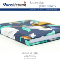 Custom free sample printing soft fabric cover diary notebook, fashion notebook and diary