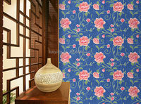 foaming wallpaper with beautiful flower
