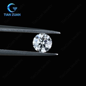 1 ct D/ F color super white round shape HPHT/CDV lab created synthetic diamond