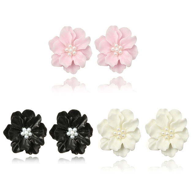 새로운 패션 식물 수지 Hyperbole 귀걸이 아크릴 꽃 크리 에이 티브 귀걸이
