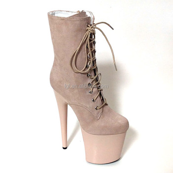 627b3076964 8 Inch Heel Extreme High Heel Ankle Buckles With Side Zip Sexy Lady Shoes -  Buy Sexy Lady Shoes,Dance Shoe Buckle,8 Inch Heel Extreme High Heel ...