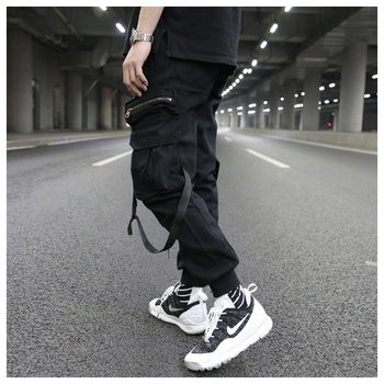 OEM latest trousers for men stock dropshipping black cargo jogger trousers pants