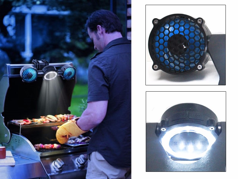 Barbecue Koken Universele Klem BBQ Grill Licht 12 LED Outdoor Lamp Twin Fan