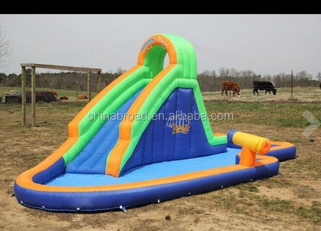 Durable swimming pool slide,inflatable water play center