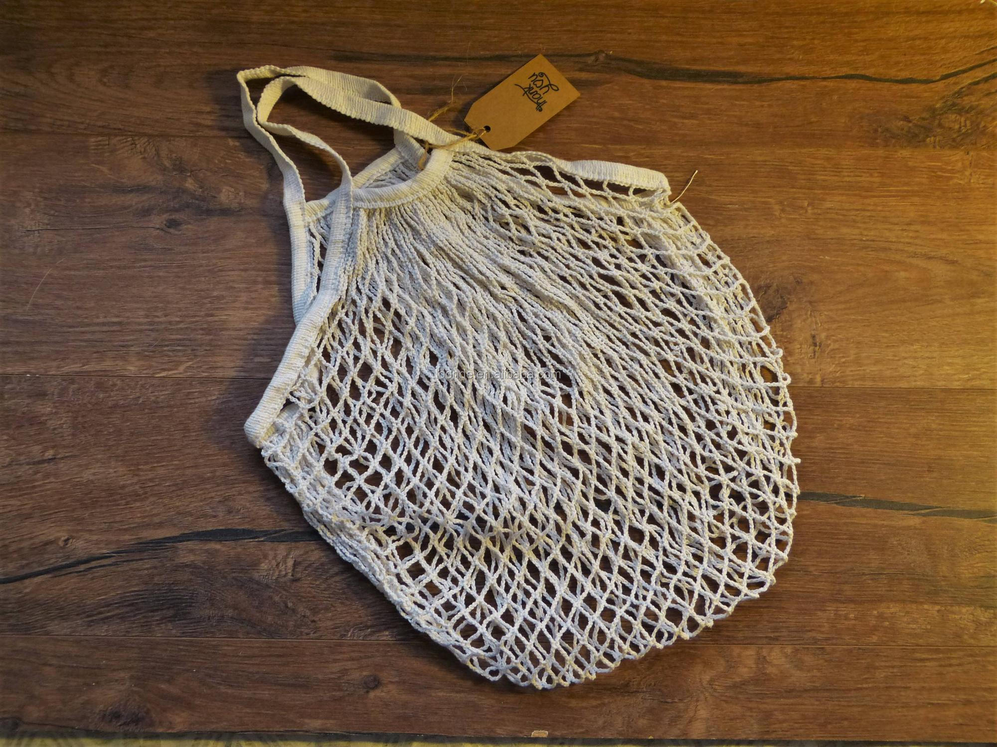 New Style Cotton Mesh Market Tote Bag