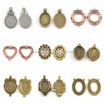 Good quality pendant base settings tiny charm pendant for necklace good quality pendant base settings tiny charm pendant for necklace diy gift for girls wholesale jewelry mozeypictures Images