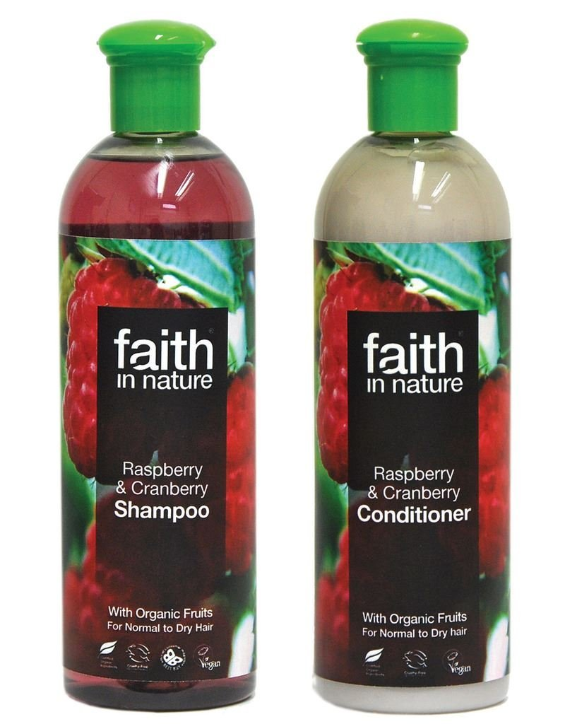 Faith In Nature Raspberry & Cranberry Shampoo 400ml & Conditioner 400ml Duo