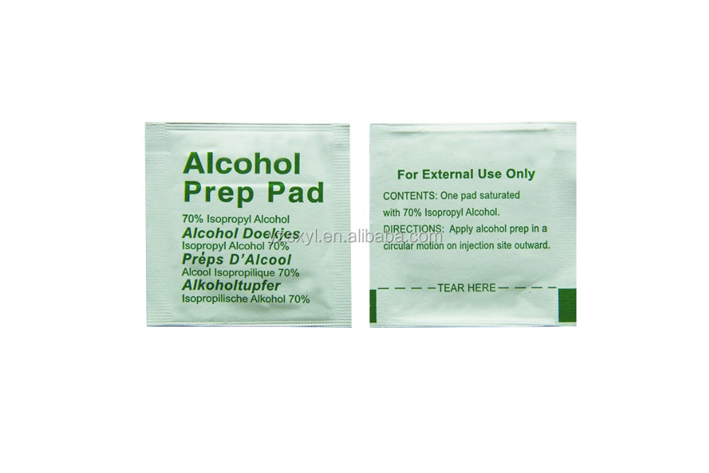 Hight quality 70 Isopropyl Alcohol Prep Pad from China