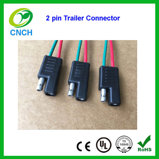 2 pin way trailer light wiring harness extension 2 pin male female 18 awg  flat wire