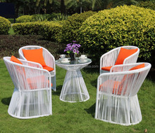 nice design villa wicker dining chair and table glass top garden furniture