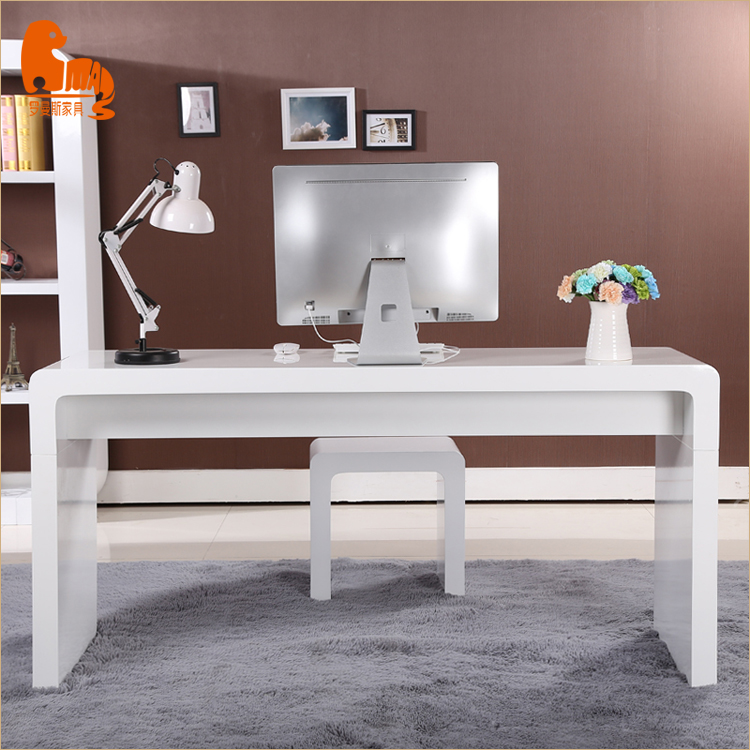 Simple rich style design furniture efficient wood computer table