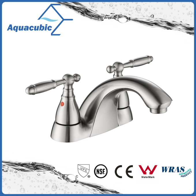 Two handle 4 inch modern lavatory faucet(AF0094-6BN)