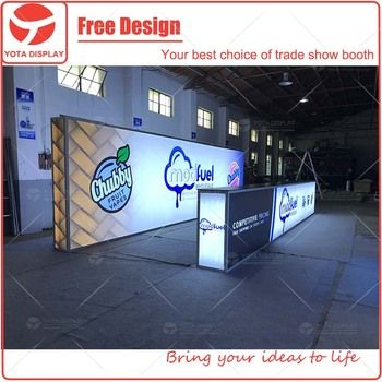 Fabric Exhibition Stand Zones : Yota offers 10x30 double sided lighting fabric exhibition booth