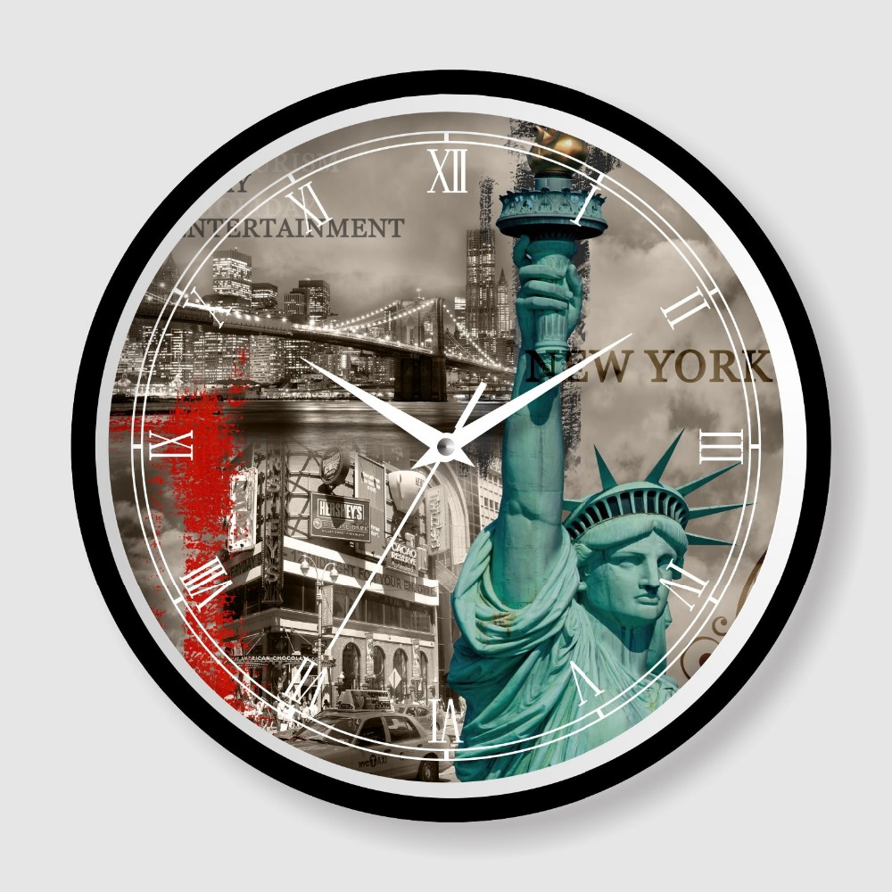 American style design OEM ODM giveaway gift wall clock