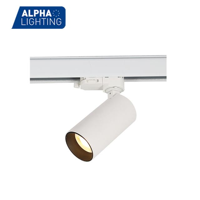 Dongguan alpha lighting co ltd led light only for export alpha lighting wide power range head moving led track light mozeypictures Gallery