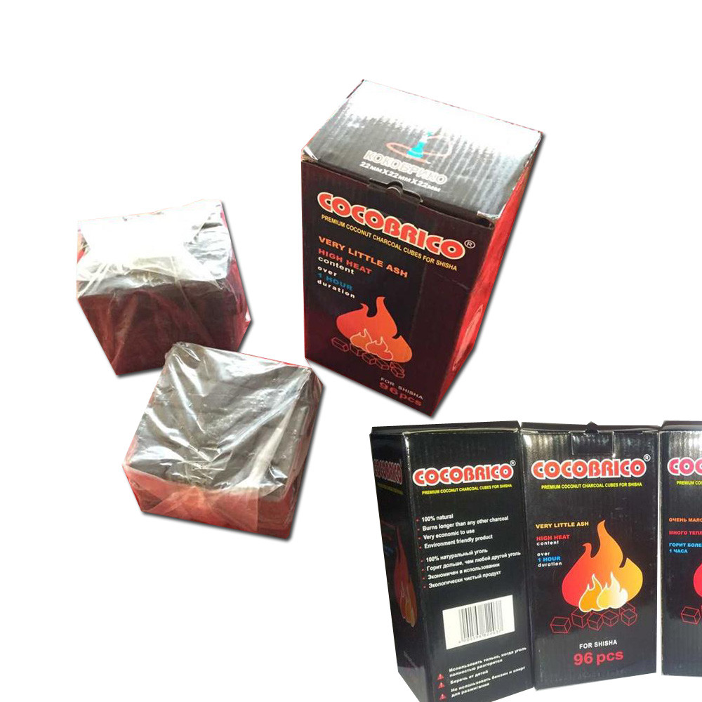 Hong Qiang Cocobrico 2.2cm coconut charcoal coco charcoal briquette for shisha