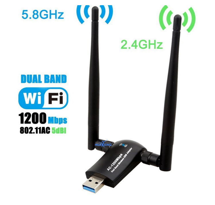 1200 300mbps のデュアルバンド USB WiFi Android のタブレット用