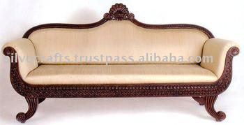 Royal Indian Rajasthani Jodhpur Hand Carved Teak Wooden