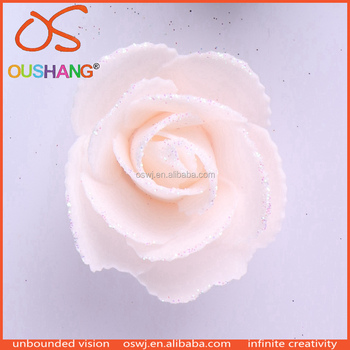 53384f6a90c Oushang envases de plástico brillo artificial floral que hace espuma hoja  flores