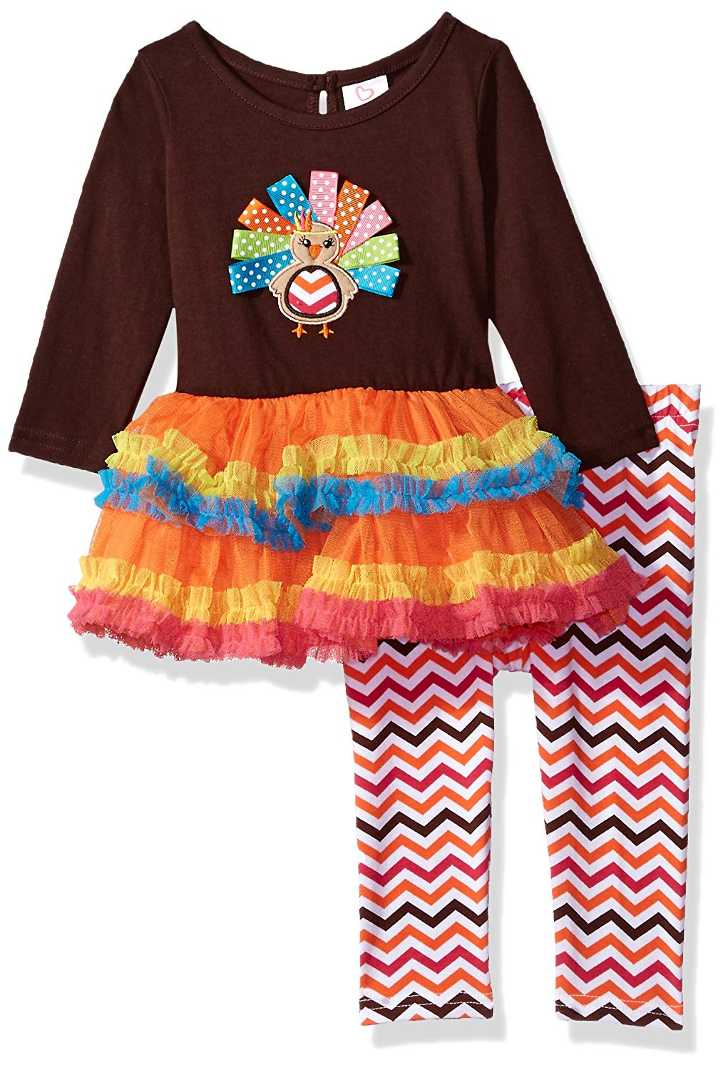 061933b18d33 Get Quotations · Youngland Baby Girls  Thanksgiving Tutu Turkey Dress    Legging