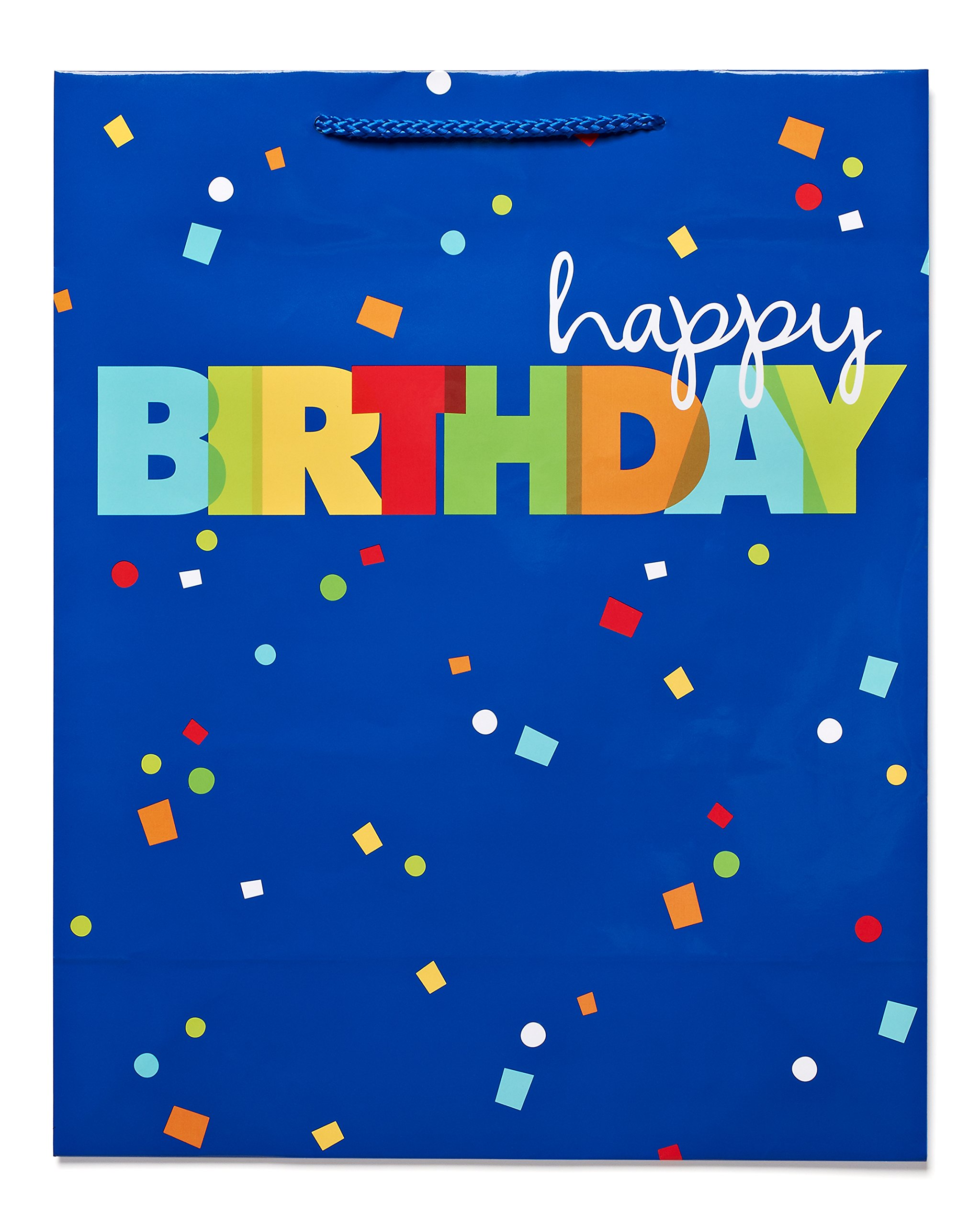 Cheap birthday greetings message find birthday greetings message get quotations american greetings xl birthday gift bag happy birthday confetti 645416891776 m4hsunfo