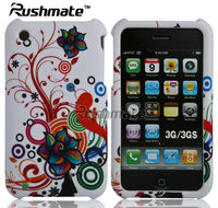 For Apple iphone 3G 3GS Bubble Flower Design Crystal Phone Case