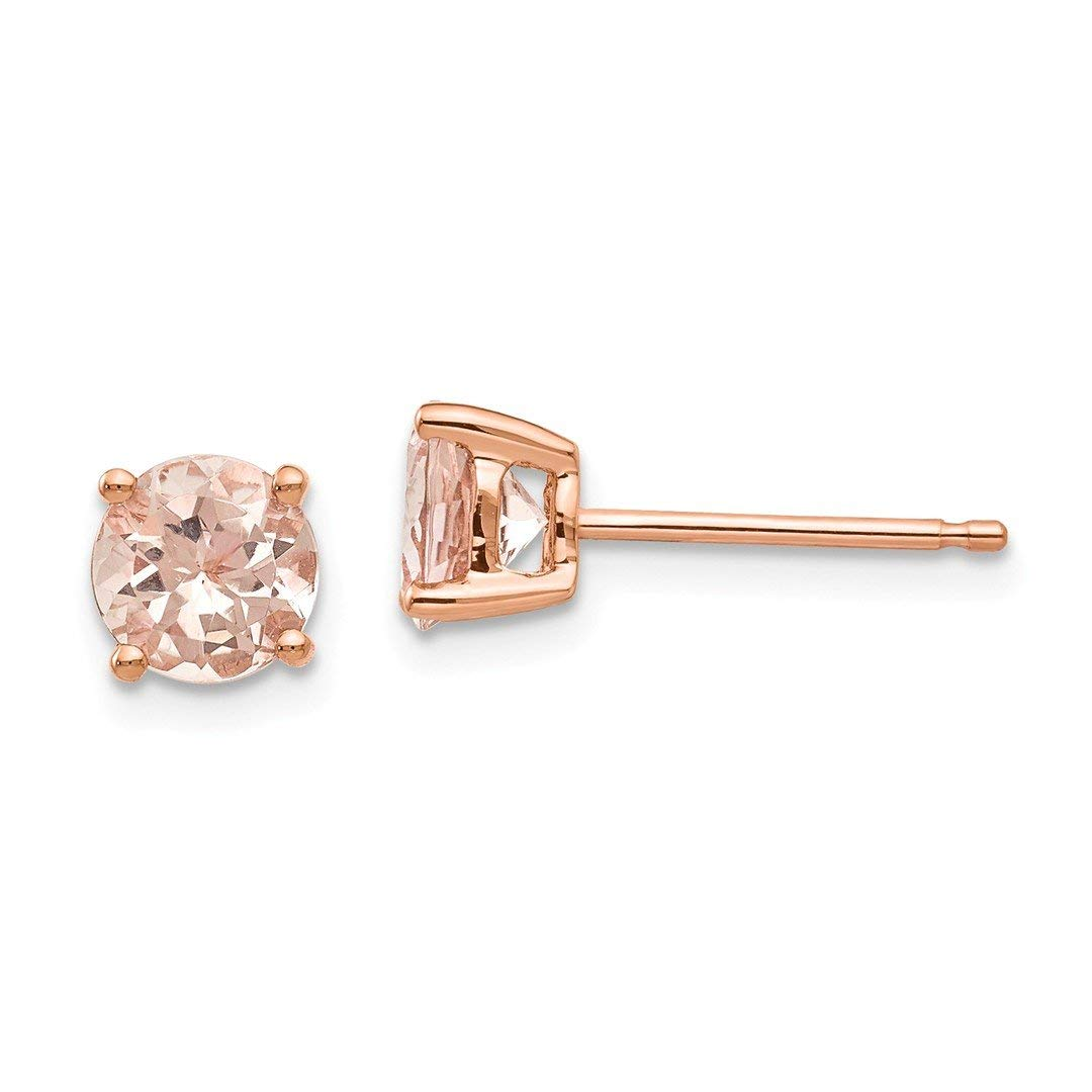 3c7e043bd Get Quotations · ICE CARATS 14kt Rose Gold Round Pink Morganite Post Stud  Ball Button Earrings Fine Jewelry Ideal