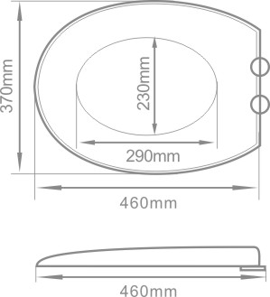 18'' European duroplast toilet seat cover slow fall down toilet seat cover