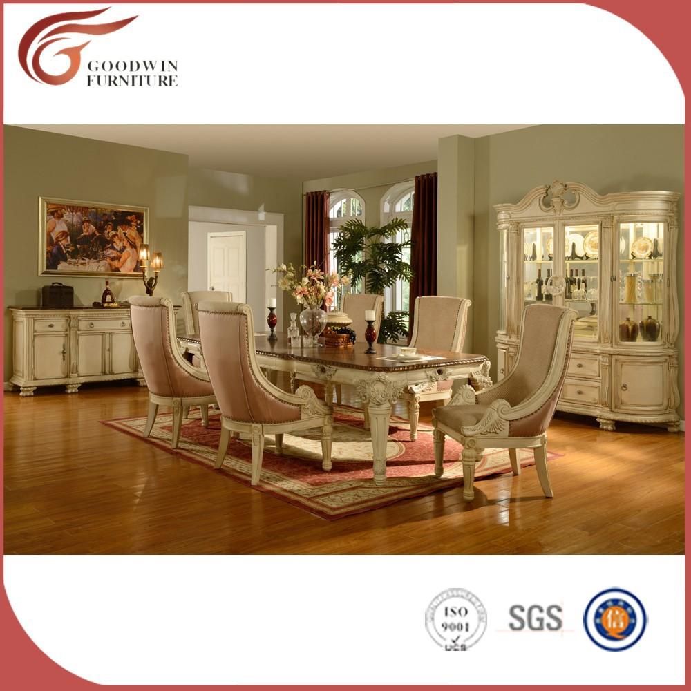 blanco de madera de estilo italiano muebles de comedor clasicos wa