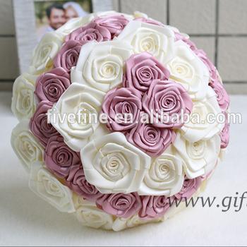 Güzel çiçekler Buket Büyük Saten Güller Düğün Gelin Buketi Buy