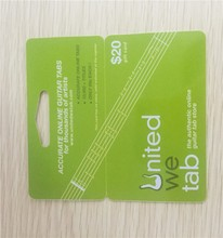 MDP02 pvc loyalty barcode and QR code plastic combine gift card
