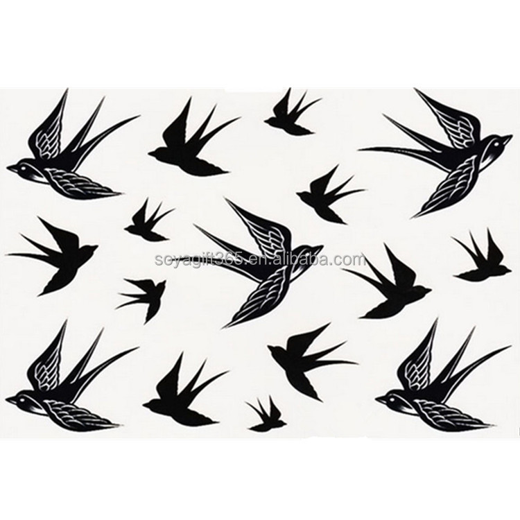 Waterproof 2Sheets Swallows Temporary Tattoo Body Art Stickers