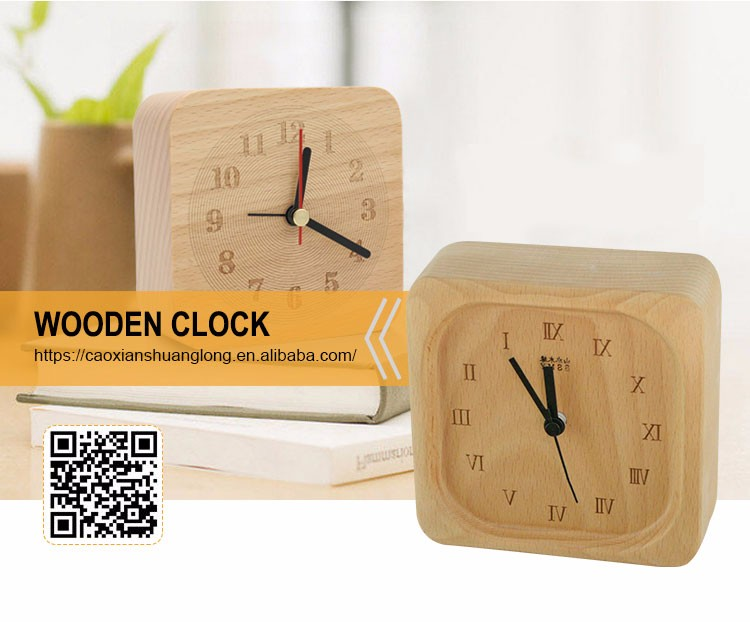 Handmade Wooden Digital Alarm Clock Antique Wooden Desk Clock Buy