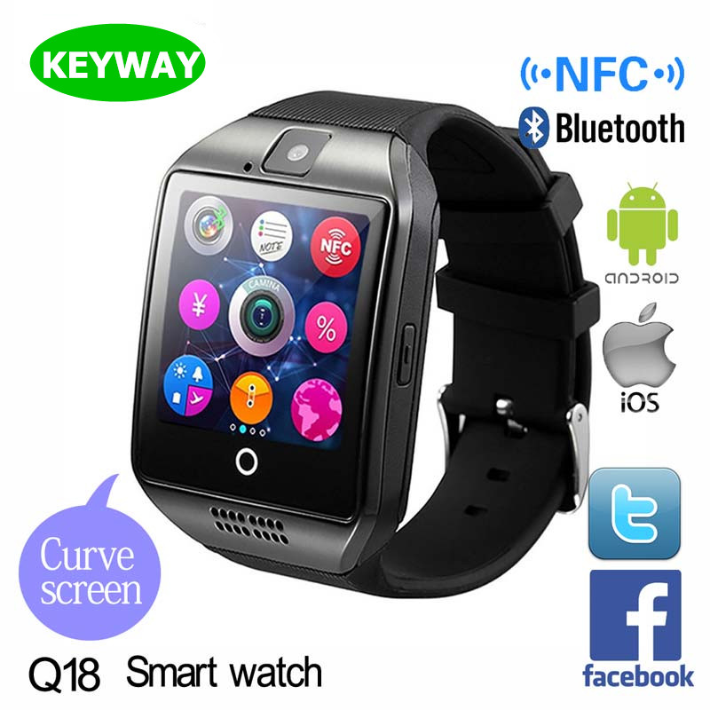 Hot Sale Bluetooth Smartwatch Q18 Android Smart Watch With SIM Card and Camera Mobile Watch Phone For Samsung Galaxy S8