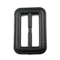 Black color abs buckle belt for coat