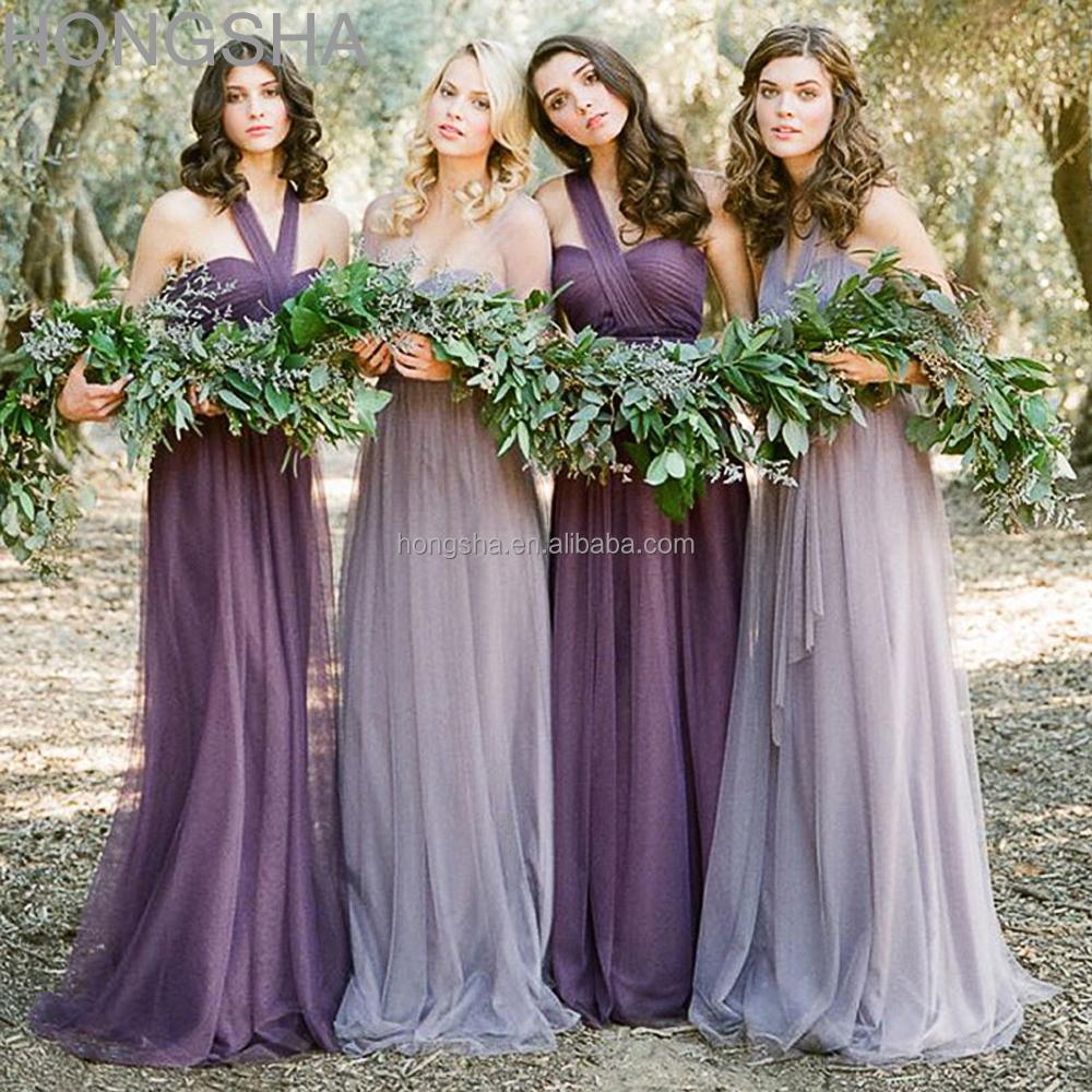 Long Bridesmaid Dress Two Color Made To Order Bridesmaid Dresses China HSD1553