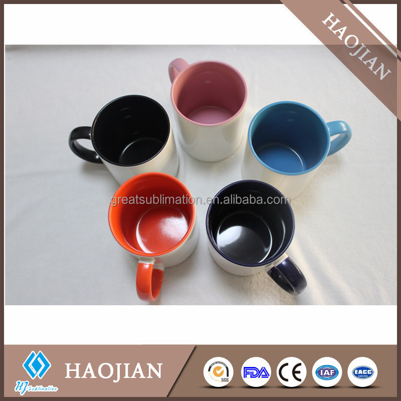high quality colorful inner sublimation tea cup