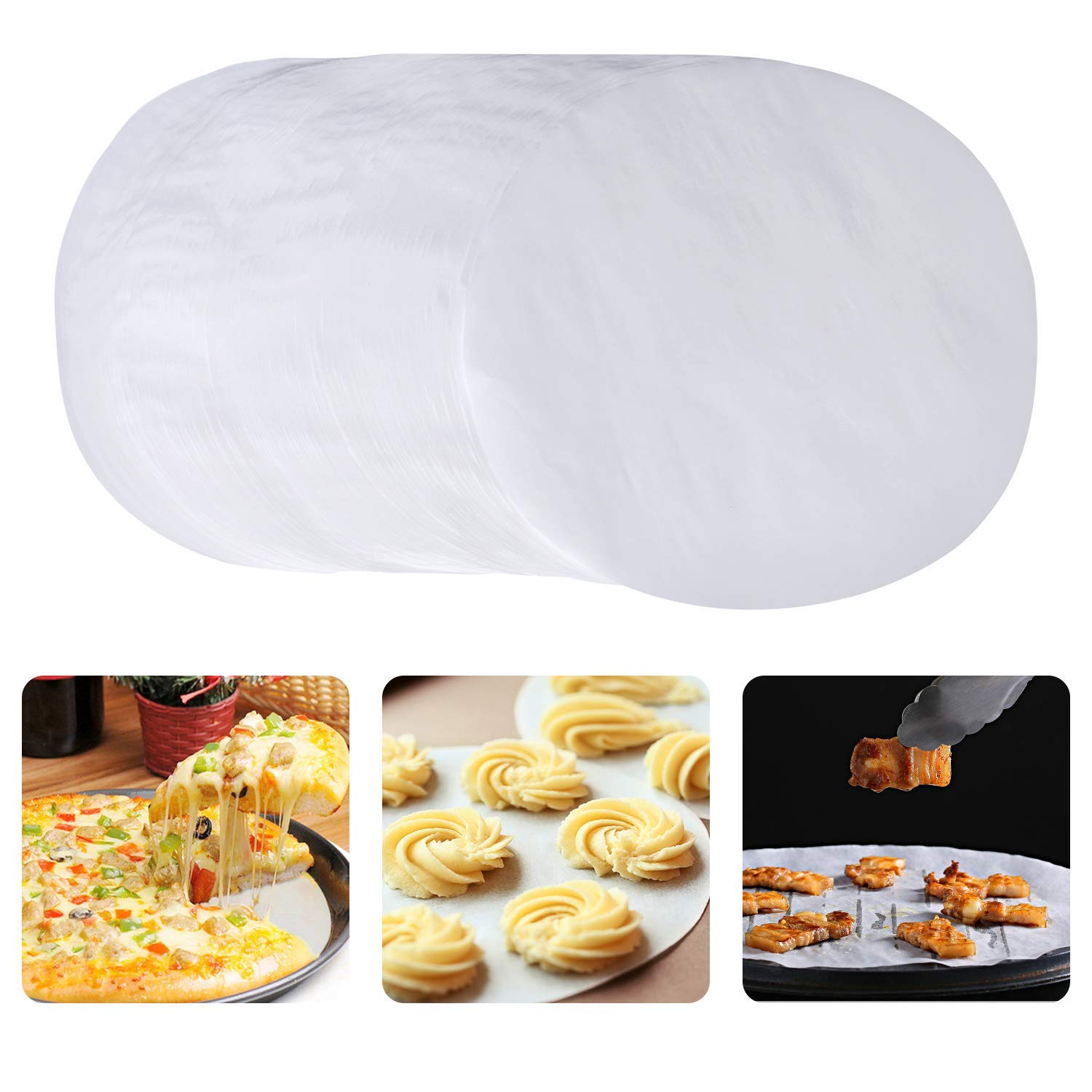 Baking Paper Liners for Baking Cakes Cooking Cheesecakes Parchment Paper Rounds 7 Inch Diameter Dutch Oven set of 100 Air Fryer Tortilla Press