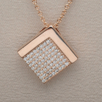 18k gold cubic zirconia pave setting gold square pendant necklace 18k gold cubic zirconia pave setting gold square pendant necklace mozeypictures Choice Image
