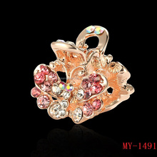 Fashion butterfly diamond brooch brooch collar scarf buckle punk clip factory direct