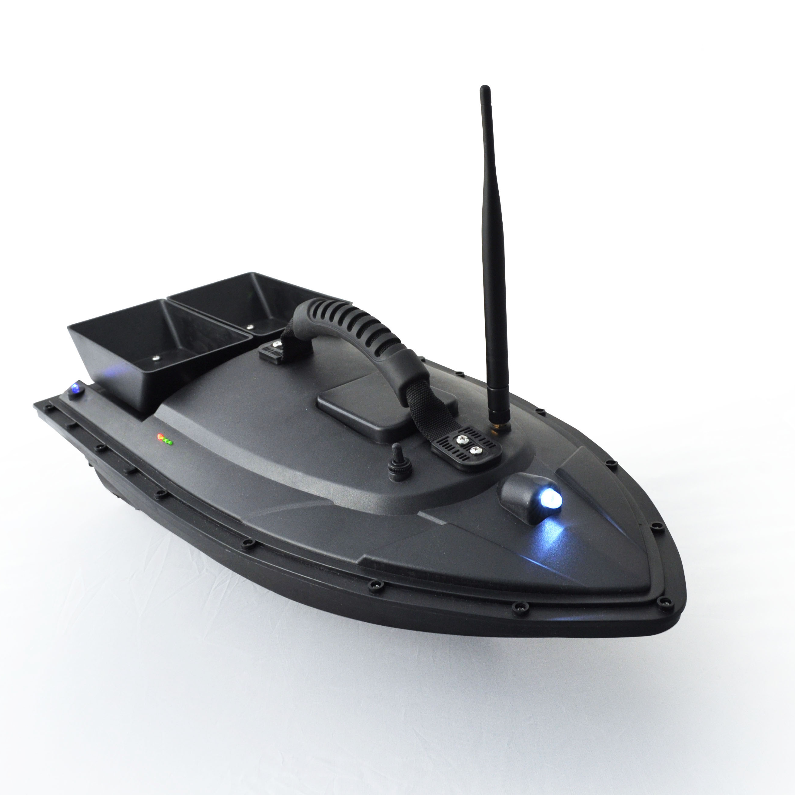 Intelligent RC Fishing Bait Boat Double Motors With 400-500m Remote Control Visual Fish Finder Model Ship Black Mini Speed Boat
