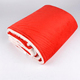 Cheap price winter custom knitted plain warehouse wool blanket polyester