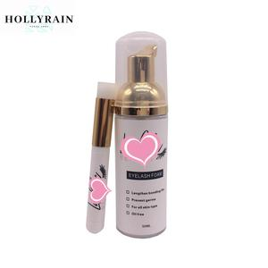 Gentle oil free eyelash extension foam cleanser lash shampoo with private label for promotion