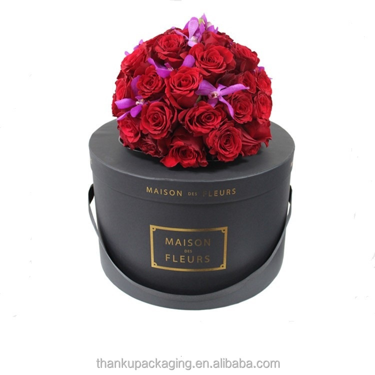Wholesale luxury round flower box for flower