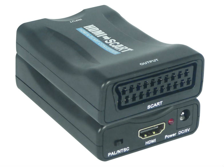 Mini HDMI to SCART Converters Support NTSC and PAL two standard TV formats output