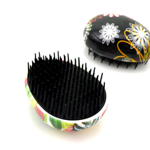 Hot sale Tangle Compact Styler egg shaped hair brush with colored finish